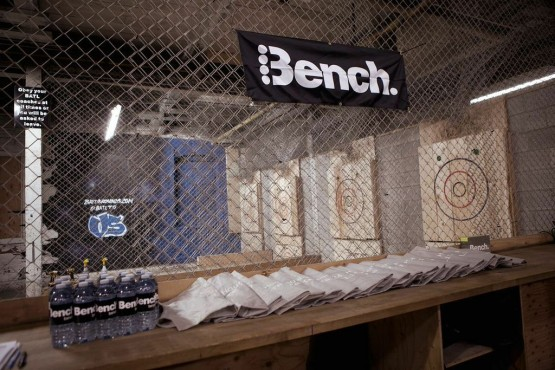 Bench. Canada Toronto Axe Throwing