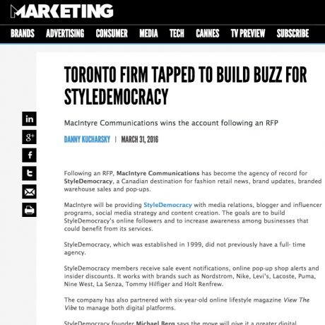 Marketing Magazine – Style Democracy