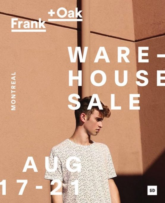 Get ready for the biggest Frank + Oak Warehouse Sale ever! Coupon valid only on Tuesday, February 21st. For 6-days only, shop up to 80% off on our largest selection of inventory from men + women.